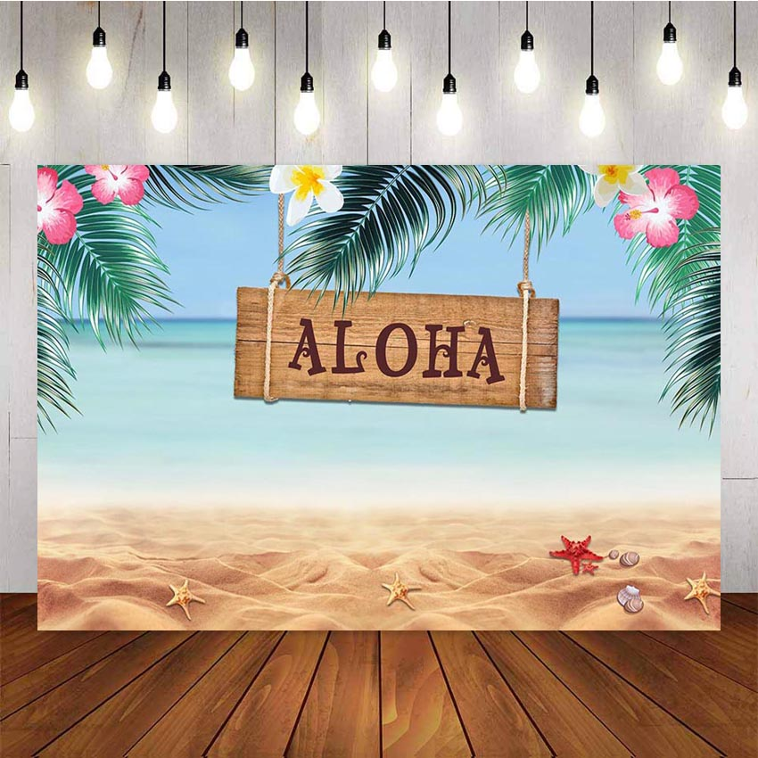Haoyiyi 10x6.5ft Tropical Backdrop for Party Background Forest Jungle Palm Tree Leaves Hawaiia Luau Photography Photo Newborn Baby Shower Tourist Honeymoon Photoshoot Wallpaper Portraits