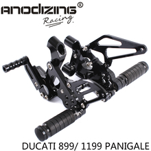 Full CNC aluminum Motorcycle Rearsets Rear Set For DUCATI  899/ 1199 PANIGALE 2012-2015