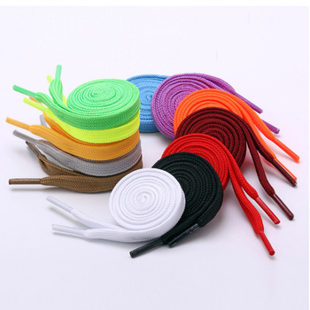 120cm High Quality Polyester Fashion Sports Casual Shoe Lace Solid Flat Shoelace Shoe Strings Cordones Zapatilla 12 Colors Shoelaces