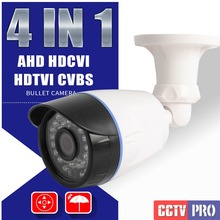 4 IN 1 AHD Camera Security OSD Menu Switch CVI TVI CVBS HD 720P 1080P 1.0MP 2MP CCTV Surveillance Bullet Camera Outdoor IP66