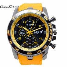 CocoShine A-923 Stainless Steel Luxury Sport Analog Quartz Modern Men Fashion Wrist Watch wholesale