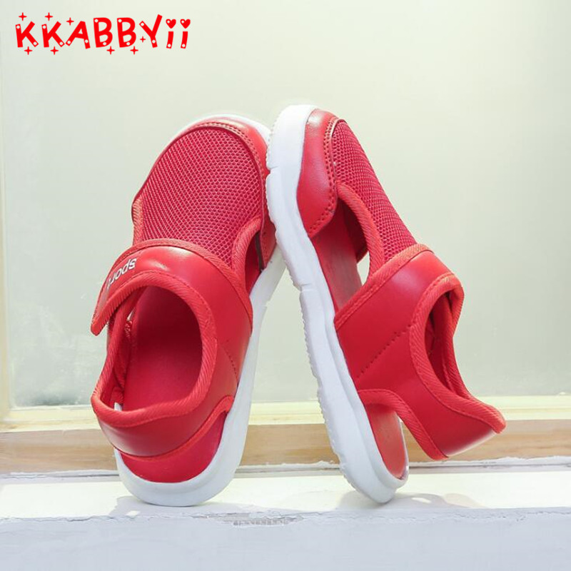 Summer Fashion Kids Shoes Cut-outs Air Mesh Breathable Shoes For Boys Girls Children Sneakers Baby Boy Girl Sandal ...