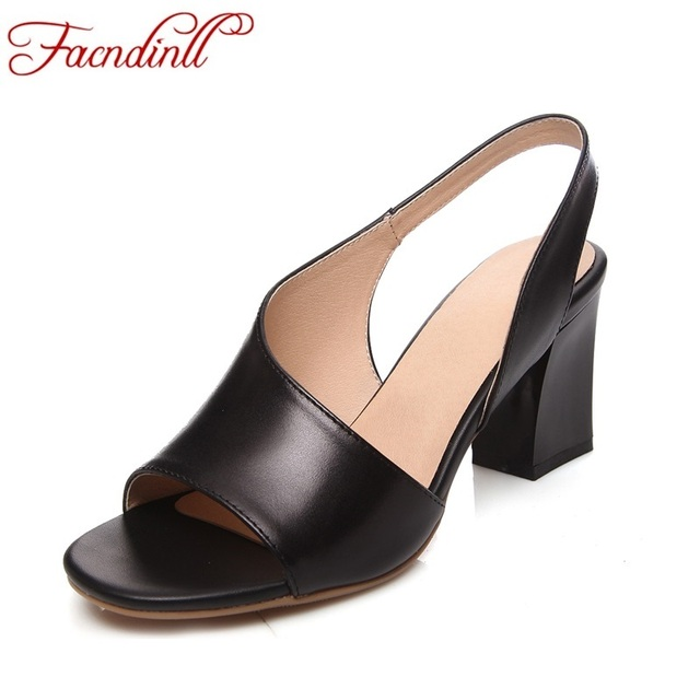 84418a5c31b15 summer shoes 2018 ladies flip-flops woman leather sandals soft leather  casual open toe women summer high heels wedding shoes