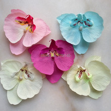 4colors available  real touch Artificial phalaenopsis flannelet silk orchid heads diy hair accessory wrist corsage decoration