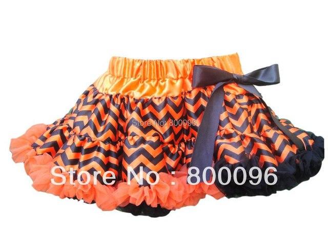 Fashion Baby Pettiskirt Cute Tutu Baby Halloween Clothes Orange Black Bow Baby Casual PETS-142