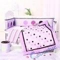 2015 novo design, 7 piecse baby crib bedding set, colcha de retalhos, pára, saia, lençol, infantil bedding, menino e menina