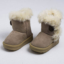 New Brand Children Shoes Kids Girls Boots Winter Warm Ankle Toddler Boys Boots Children