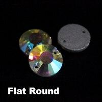 Cose en el Cristal AB rhinestone 8mm 10mm 12mm 14 MM 16 MM 18mm plana lujo piedras de cristal para la ropa DIY envío libre