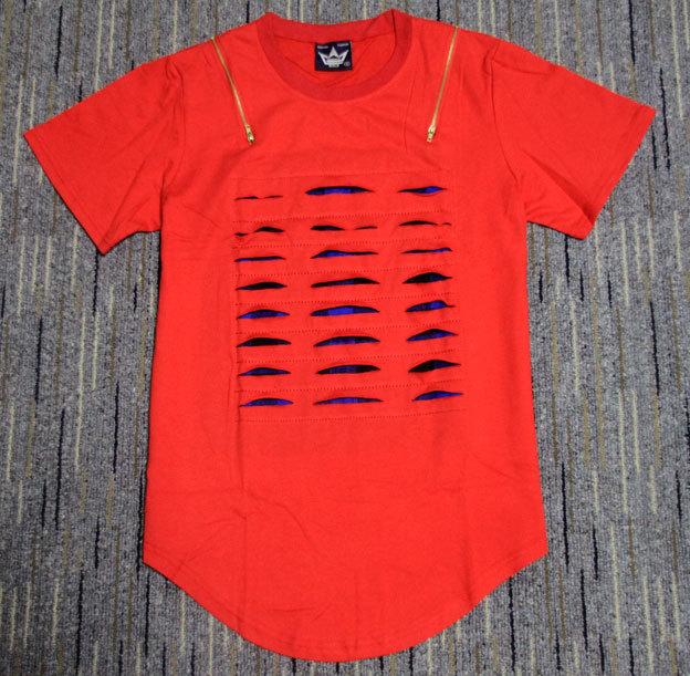 Hip Hop red tee skateboard undershirt Coco Tee Lk DGK KTZ clothes Tees swag tyga T shirt Man T shirt Summer Long White Extended