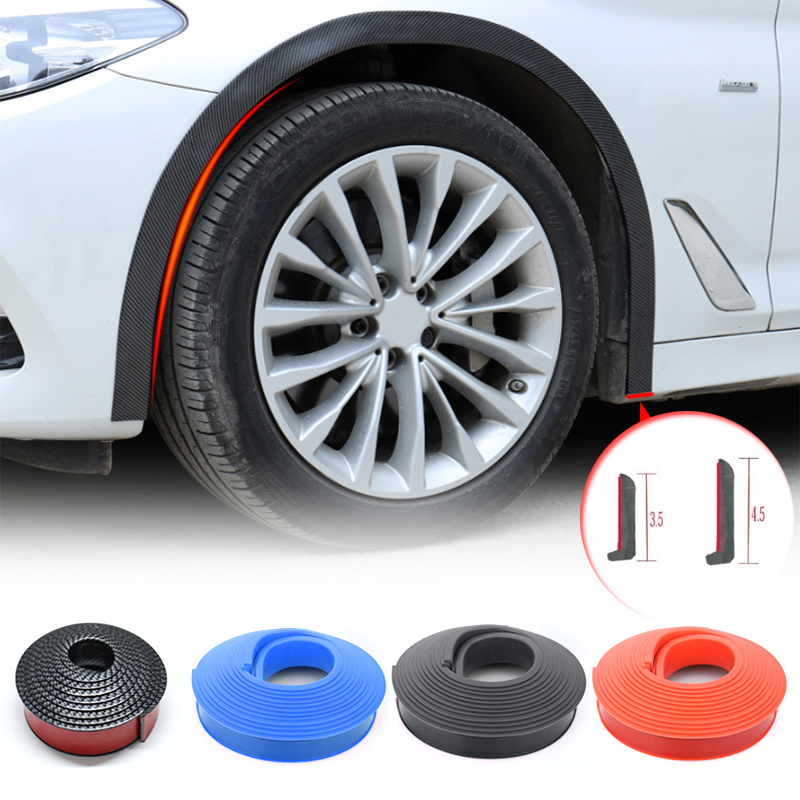 Car Styling Car Fender Wheel Eyebrow Protector Lip Wheel-arch Trim Wheel Eyebrow Decorative Proof Scratch Automobile Accessories