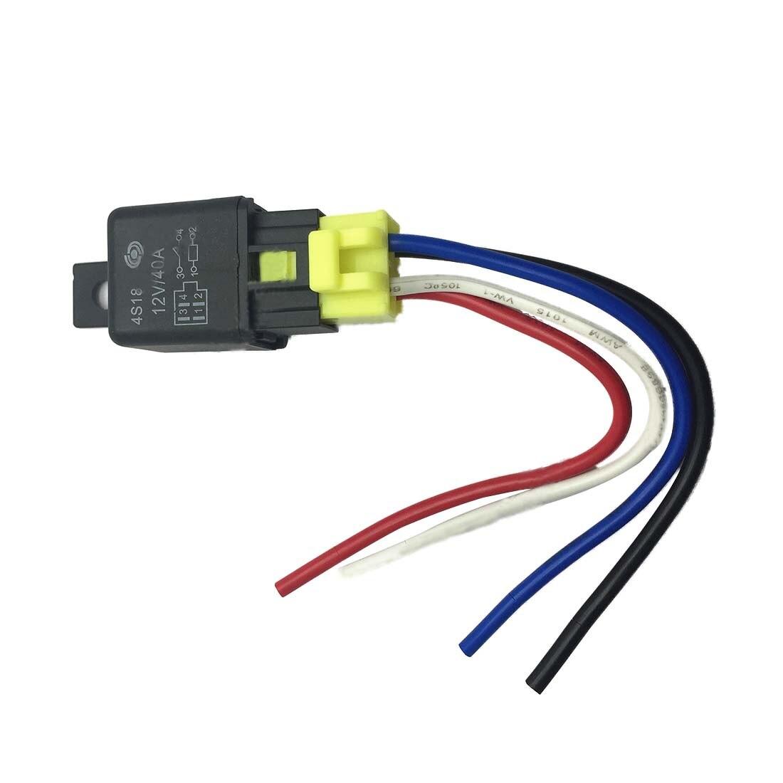 Car Auto Truck SPST 4 Pin Relay Plastic Socket 40A 12V DC 5 Pcs