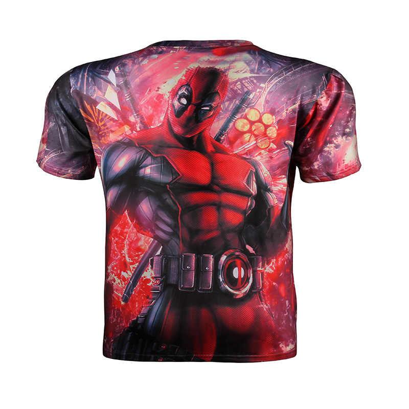 2017 ใหม่มาถึงการ์ตูนอเมริกัน lego Deadpool เครื่องแต่งกาย t เสื้อผู้ชายผู้หญิงการ์ตูน 3d พิมพ์เสื้อยืด Funny Hip Hop t เสื้อ