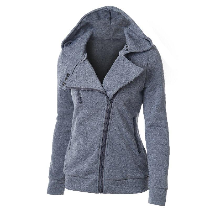 LITTHING Spring Zipper Warm Fashion Hoodies Women Long Sleeve Hoodies Jackets Hoody Jumper Overcoat Outwear Female Sweatshirts(China)