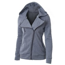 LITTHING Spring Zipper Warm Fashion Hoodies Women Long Sleev