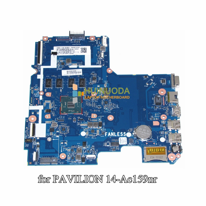 814050-001 for HP Pavilion 14 14-AC159NR laptop motherboard SR29H N3050 CPU onboard 4GB memory SKITTL10-6050A2730201-MB-A01 nokotion 814507 001 814507 501 6050a2731301 mb a01 laptop motherboard for hp pavilion 14 af em2500 cpu ddr3