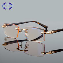 Фотография VCKA BRAND Business elite style Men women unisex diamond cutted made Brown lenses reading glasses +1 +1.5 +2 +2.5 +3