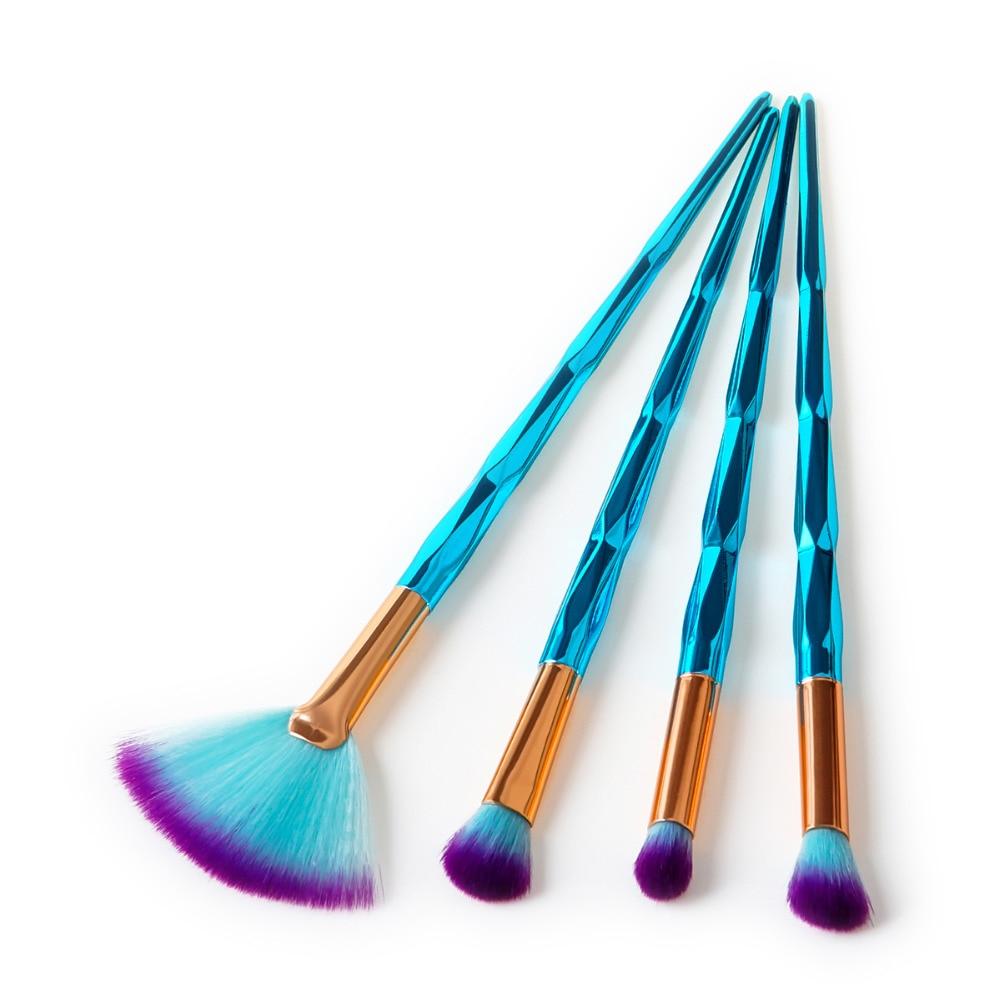 New 4pcs Eye Makeup Brushes Set Diamond Handle Cosmetic Foundation Eyeshadow Blusher Powder Blending Brush Beauty Tools Kits makeup brush set eye makeup brushes setbrush set - AliExpress