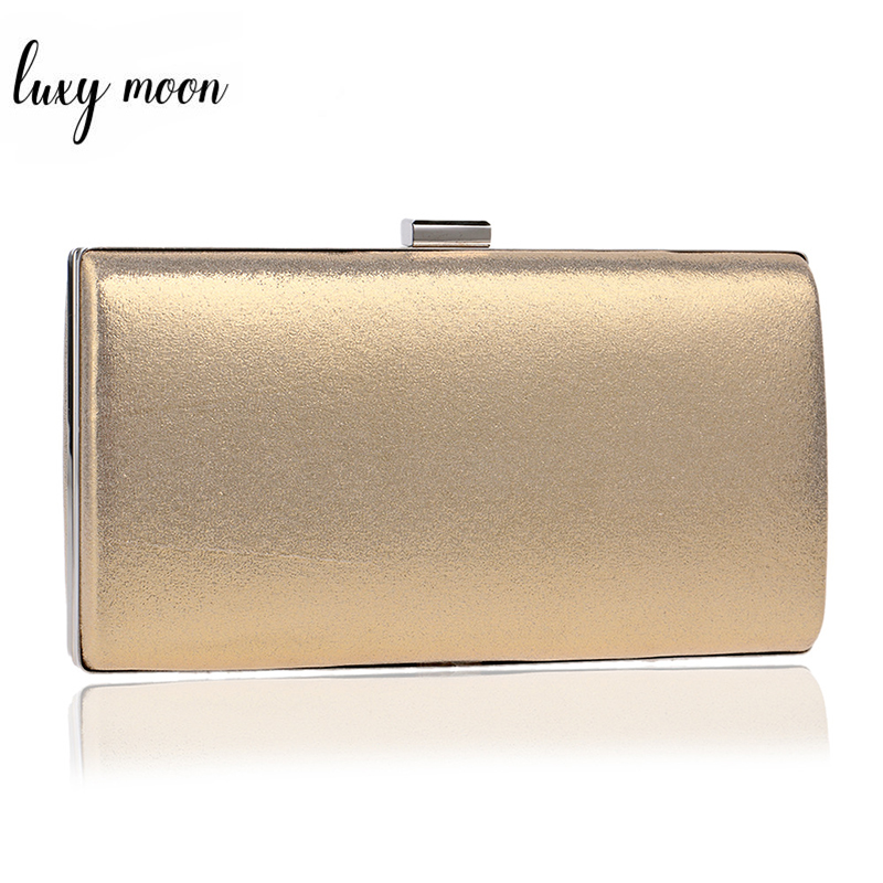 Fashion Evening Bags Silver Gold Color Day Clutch Female Blue Black Wedding Purse Messenger Bag Chain Shoulder Bag Handbag ZD455
