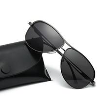 Men's Pilot Polarized Sunglasses Aluminum Magnesium Oval Sun Glasses Men Day Night Vision Goggles Driving Shades Man Oculos Male
