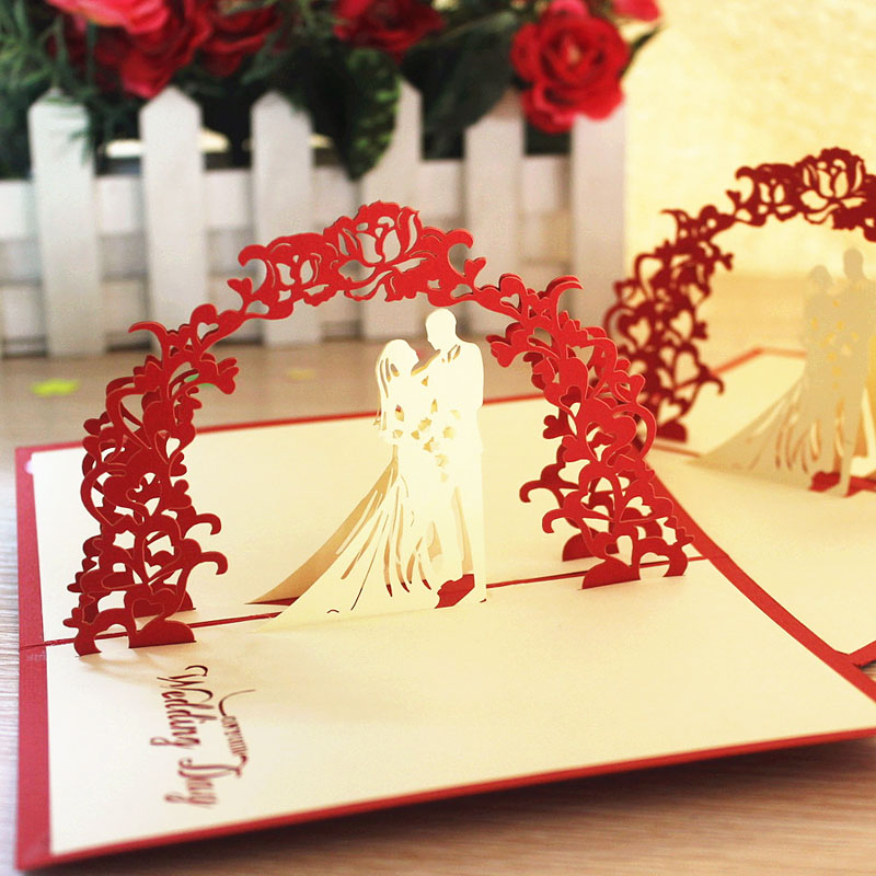 Sweet Wedding Gift Ideas Handmade Greeting Cards Three Dimensional