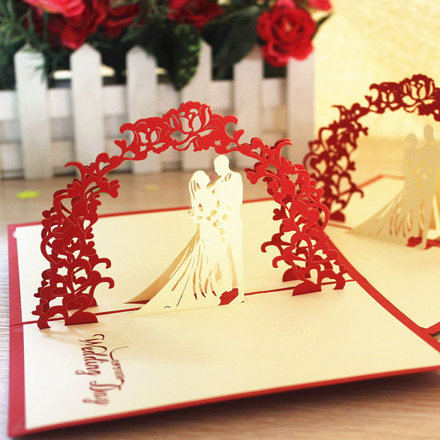 Sweet wedding gift ideas handmade greeting cards three dimensional ...