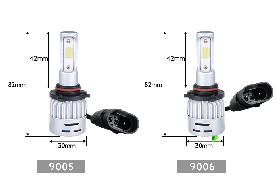 VooVoo 2PCS H4 H7 LED Car Light 72W 8000Lm 9005 9006 H11 4300K 3000K 8000K Car headlights 12V Car Near And Far Lamps Lighting (22)