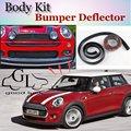 For Mini Hatch / Hardtop Bumper Lip Deflector Lips Front Spoiler Skirt For TopGear Friends Car Tuning Veiw / Body Kit / Strip