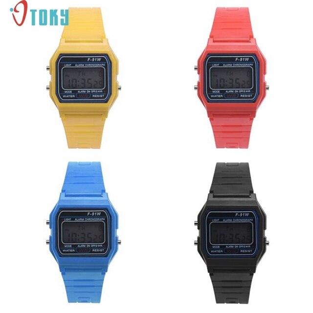 Men Girl LED Digital Round Rubber Quartz Sport Fashion Waterproof Wrist Watch Dr