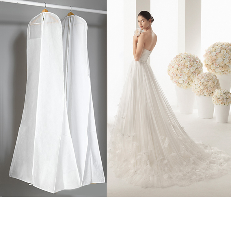 Wedding Gown Garment Bag: 3 Sizes Wedding Dress Bags Clothes Cover Dust Cover