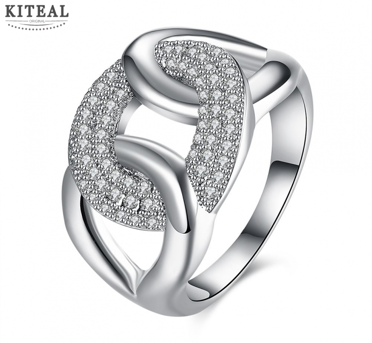 wholesales online shopping india unisex rings silver color engagement ring bague femme floating charms for women - Wedding Rings Online