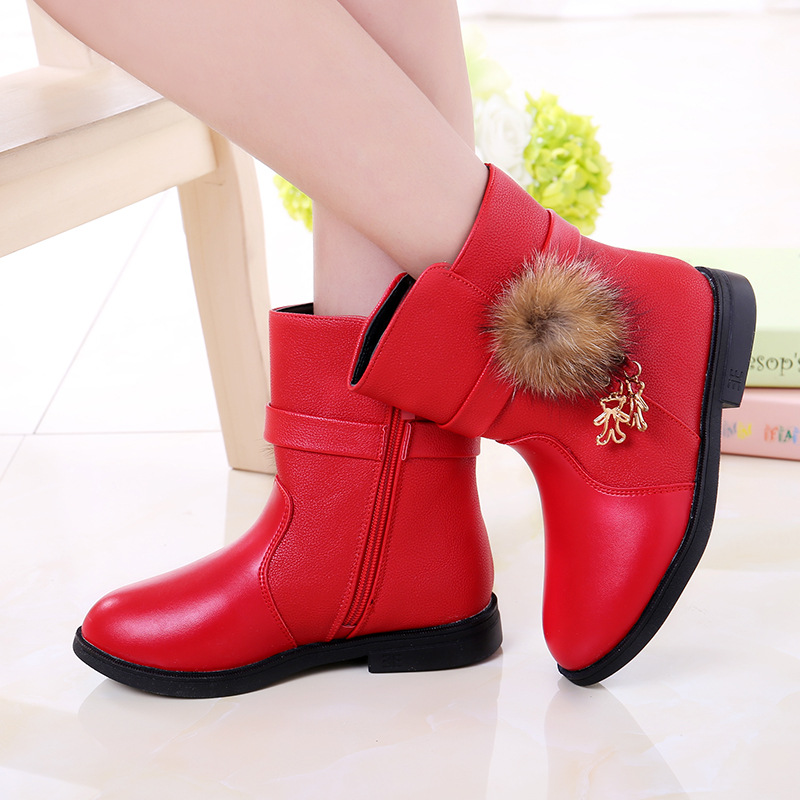 Color : WineRed , Size : 8 M US Toddler Non-Slip Spring Autumn Kids Girls Shoes Floral Martin Boots Toddler//Little Kid Durable