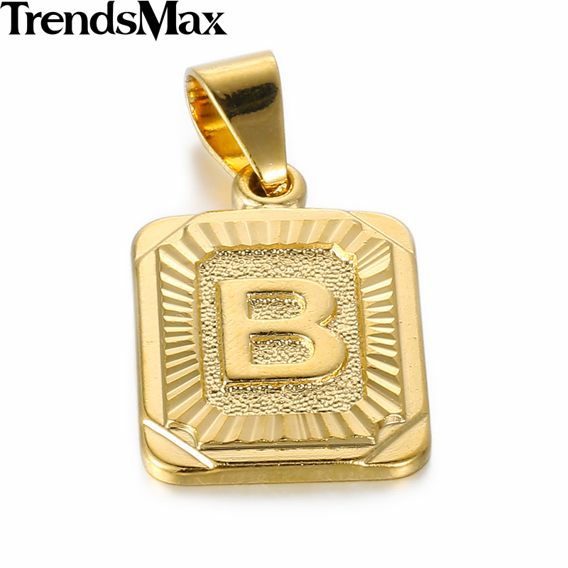 letter pendants gold