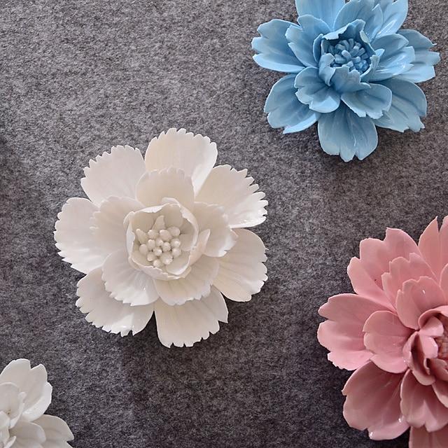 Керамика вишня и пион настенные украшения творческий цветет гостиная стены ТВ фоне стены 3d цветок висит декоры