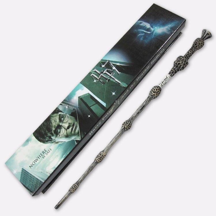 Free Shipping  Magic Wand Harri Pottre Elder Dumbledor  Wand 34.5cm Krum Non-luminous Wand With Gift Box