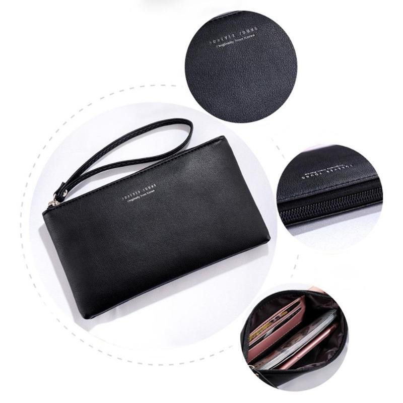 5265d2160e82 Women Clutch Bag Simple Black Pu Leather Crossbody Bags Enveloped Shaped  Messenger Shoulder Bags Big Sale Pochette Femme Z95-in Clutches from Luggage    Bags ...