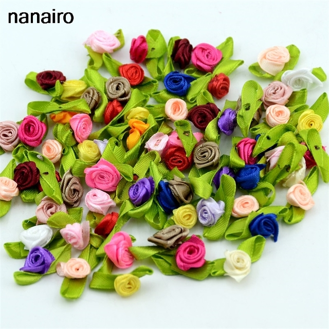 100pcs artificial mini silk flower artificial handmade diy ribbon 100pcs artificial mini silk flower artificial handmade diy ribbon little rose pretty christmas family wedding decoration mightylinksfo