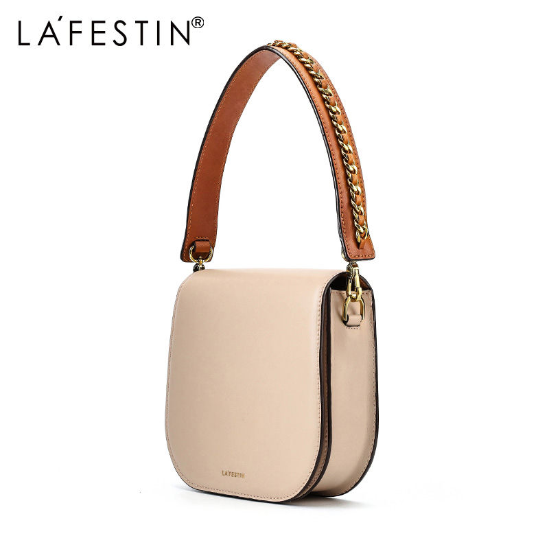 546486b0e6 LAFESTIN 2018 new Fashion leather saddle bag mini shoulder bag Messenger bag  casual women handbag -in Shoulder Bags from Luggage   Bags on  Aliexpress.com ...