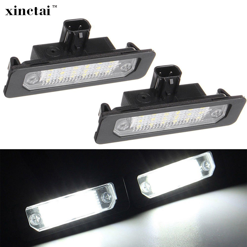 2PCS Bright White LED Number License Plate Light for Ford Mustang 2010-2014 Focus Taurus Flex Fusion Mercury sable 2008 milan hopstyling 2x 18smd led number plate light for ford mustang 2010 flex taurus focus fusion mercury led license plate light bulb