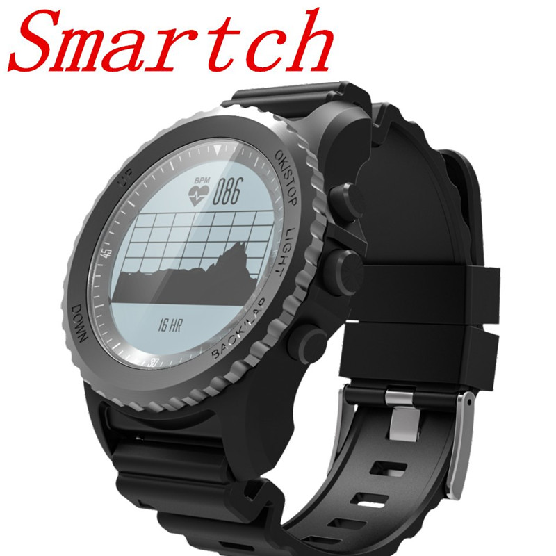 Smartch New Professional Outdoor Sport Smart Watch S968 with GPS Heart Rate Monitor Altitude Meter Pressure for Android smart baby watch q60s детские часы с gps голубые