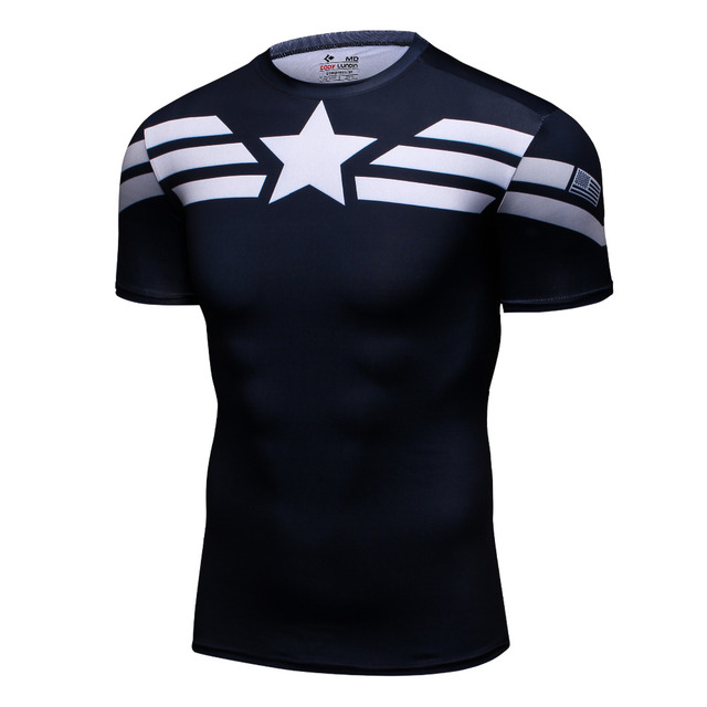 Captain America Gym Yoga Shirt