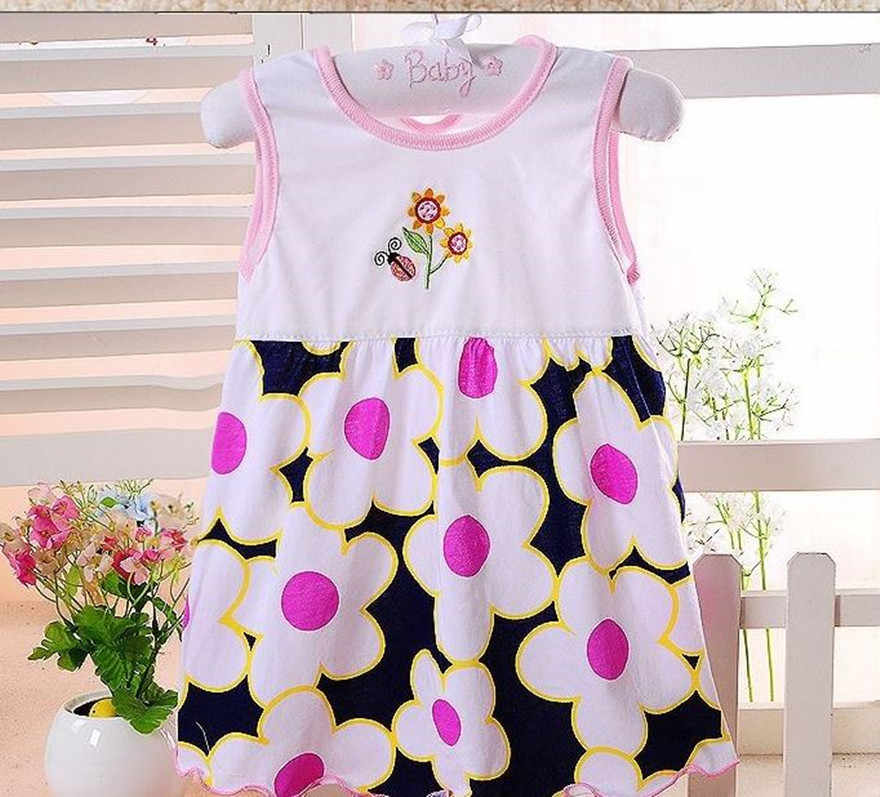 1-3T Baby Girl Dress Sleeveless infantile girls summer dress style Princess  Cotton Clothing Dress Baby Girls Clothes