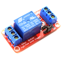 10PCS/LOT One 1 Channel 5V Relay Module Board Shield with Optocoupler Support High and Low Level Trigger for Arduino
