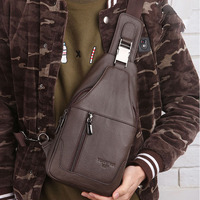 New Top Quality Genuine Leather Men Sling Chest Back Day Pack Travel Riding Casual Cross Body