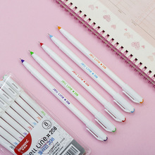8 color Jell line gel pen set Star cap 0.4mm ballpoint liner ink pens drawing art Stationery Office School supplies FB982 24 36 60 100 pieces cute colored needle gel pen 0 4mm color ink line drawing pens stationery accessories school supplies zxb92