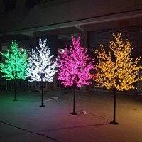 2M 6.5ft Height LED Artificial Cherry Blossom Trees Christmas Light 1152pcs LED Bulbs 110/220VAC Rainproof fairy garden decor