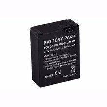 GTF 1PCS 3.7V 1600mAh AHDBT-302/301/201 Battery For Gopro Hero 3 3+ Camera OS478