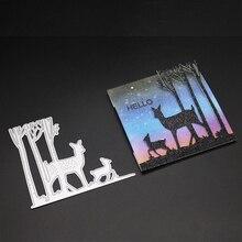AZSG Forest deer Cutting Mold DIY Scrapbook Album Decoration Supplies Clear Stamp Paper Card