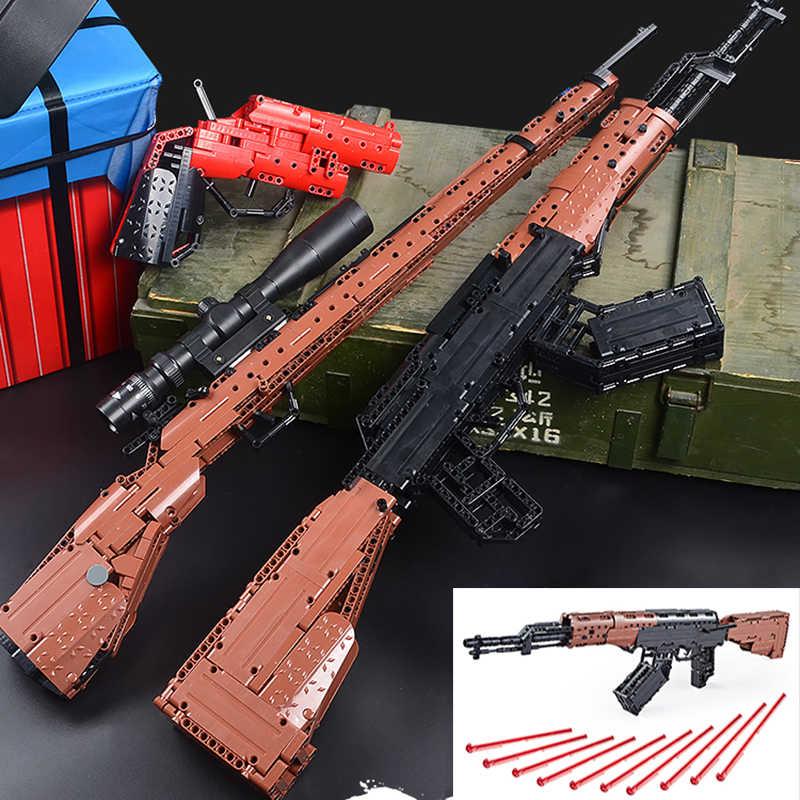 PUBG оружие 98 k, совместимые с LEGO, фигурки Ak47 Playerunknown's боя комплекты Модель Строительные кубики, детские игрушки Кирпичи