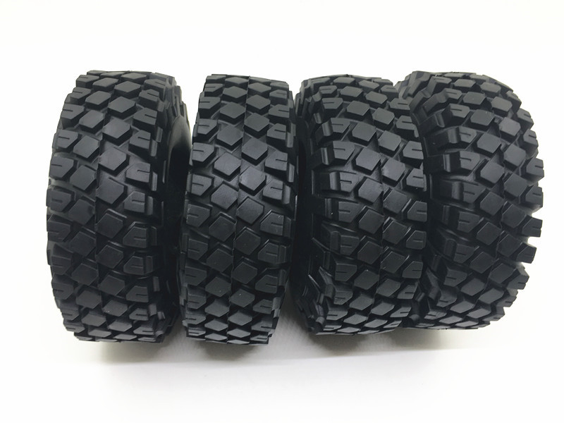 1.9 Inch 114mm Rubber Rocks Tyres / Wheel Tires for 1.9 Inch 1:10 RC Rock Crawler Wheels SCX10 RC4WD D90 Black 4pcs rc crawler truck 1 9 inch rubber tires
