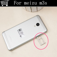 Slver Black Golden Replacement For Meizu M3S Mini SIM Meilan 3s Card Tray Slot Holder Adapter